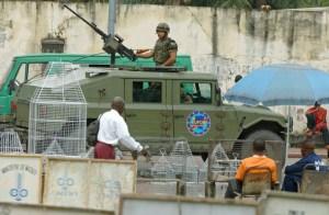 Mujer militar, Misión en la R.D. Congo